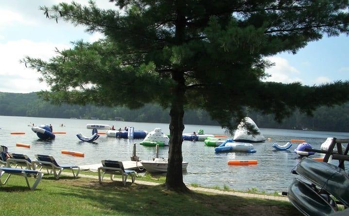 inflatables at Deerhurst resort, Huntsville