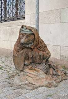 Sculpture, Rag and Bone with blanket, Stockholm