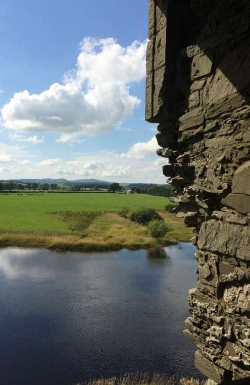 View from tower of Threave Castle