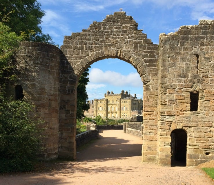 View of Culzean Castle through arch