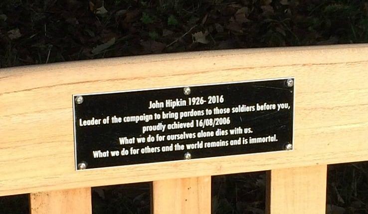 JOhn Hipkin memorial plaque
