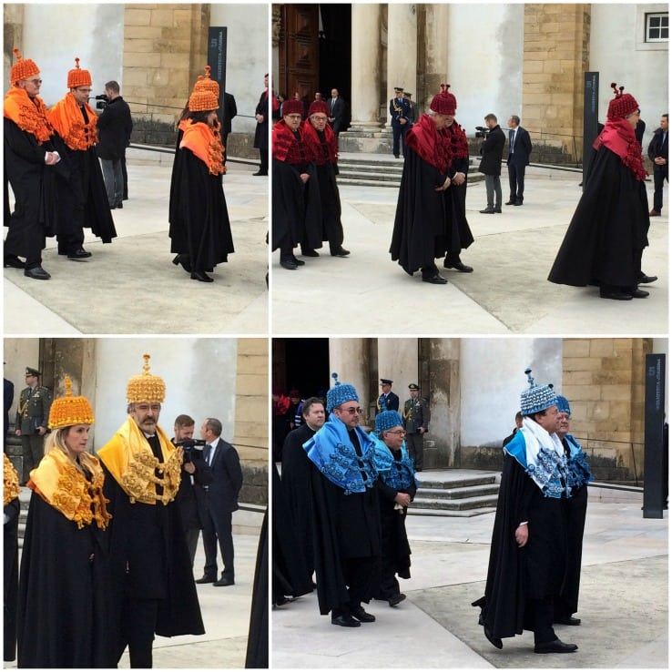 Coimbra university honorary degree ceremony