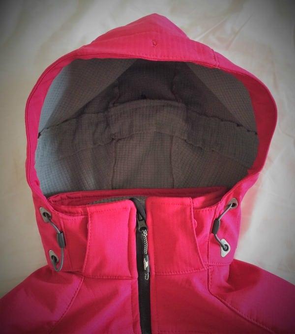 Trespass softshell jacket hood