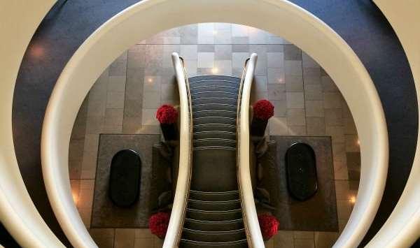 Aviator hotel staircase