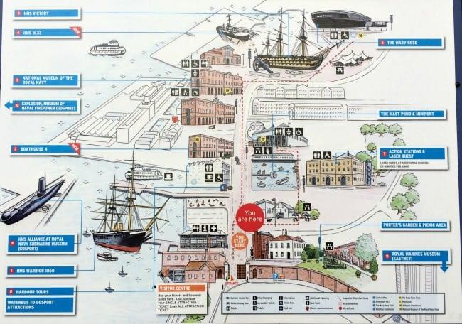 Portsmouth historic dockyard map