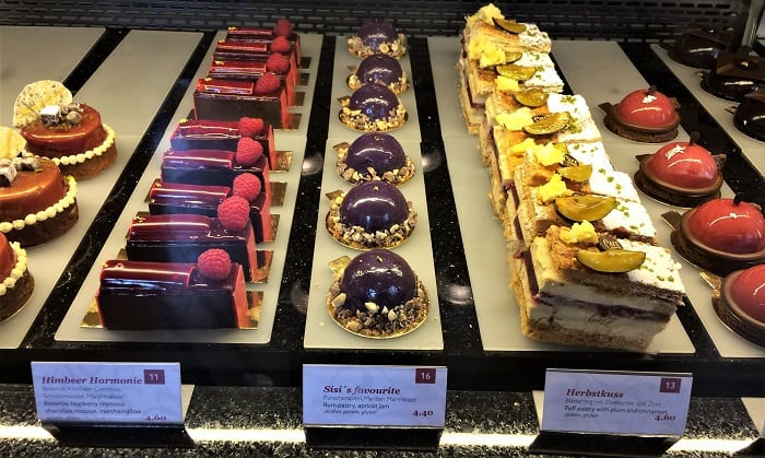 Cakes at Cafe Central in Vienna