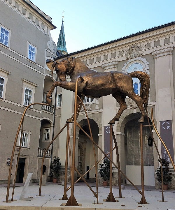 The Golden Bucephalus sculpture in Salzburg
