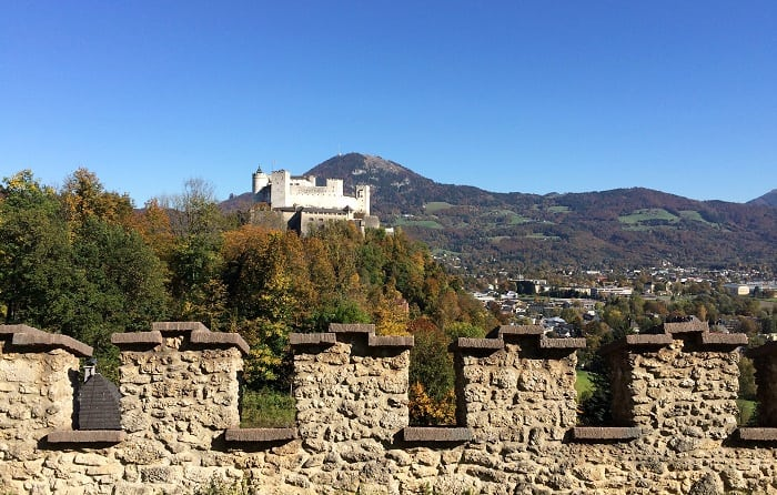 View of fortress in Salzburg