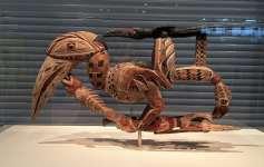 Hornbill carving at Sainsbury Centre