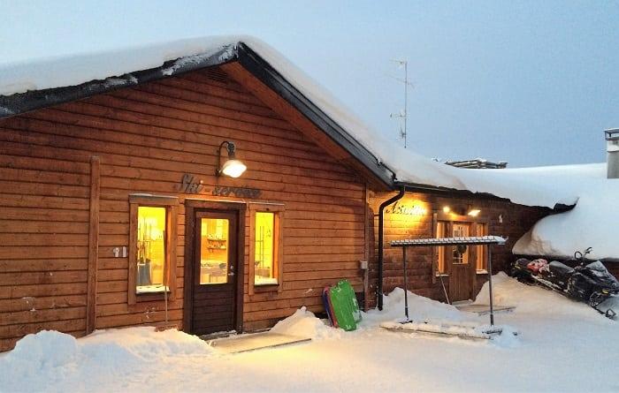Ski service chalet at Hotel Yllashumina