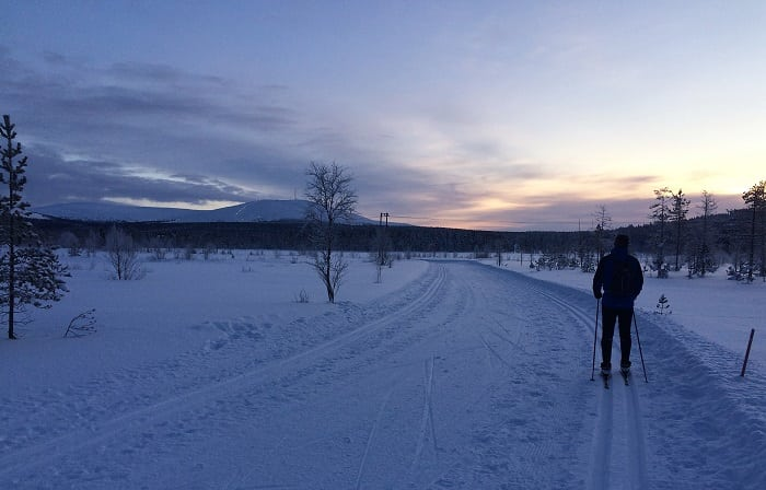 Cross-country skiing in Finland