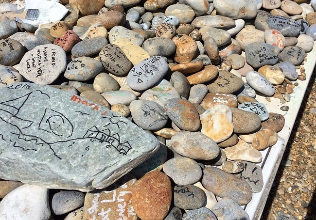 pebble homage in Aldeburgh