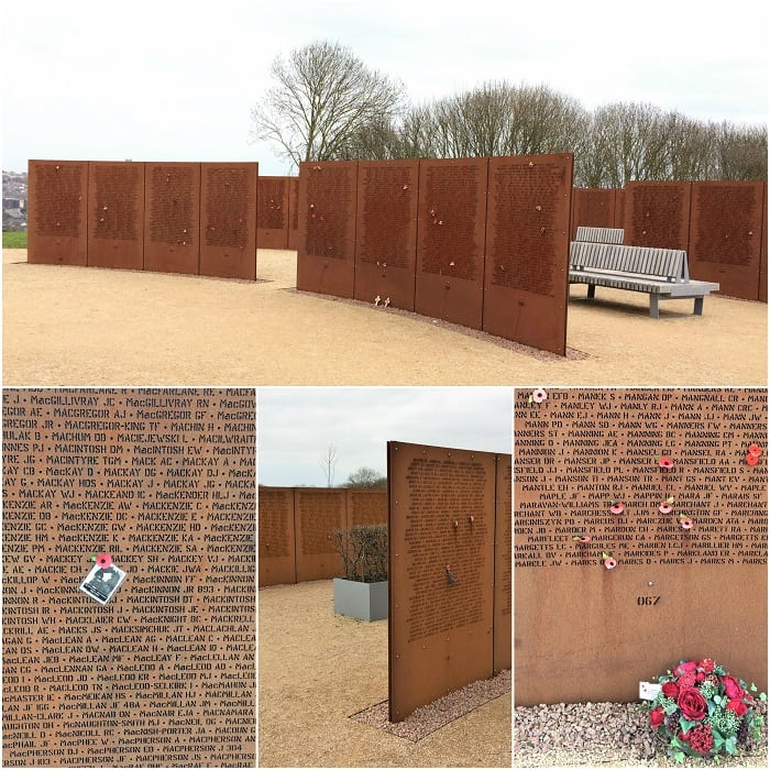 Walls of Names at INternamtional Bomber Command Centre, Lincoln