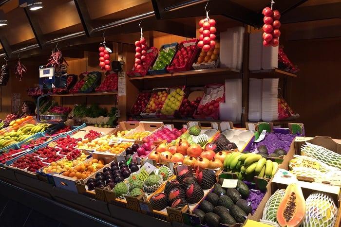 fruit market stall in Palma, Mallorca