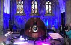 Tim Peake's soyuz spacecraft in Peterborough Cathedral
