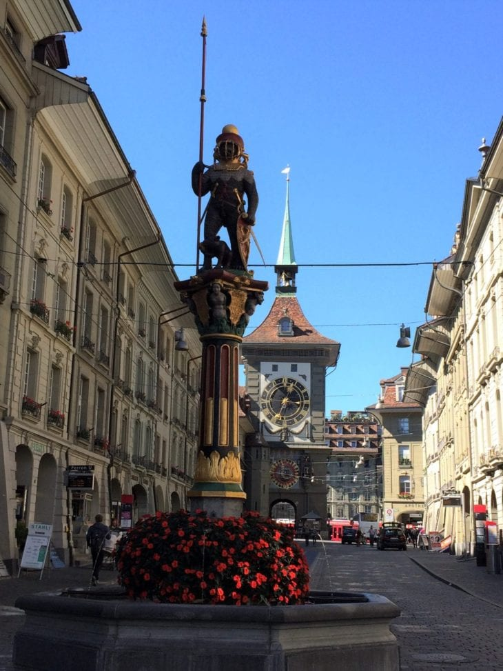 fountain and zytglogge in Bern