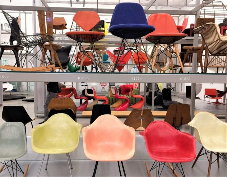 chairs in Vitra Schaudepot