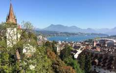 View of Lucerne from the city walls