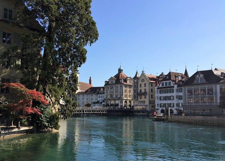 Old town in Lucerne, Switzerland