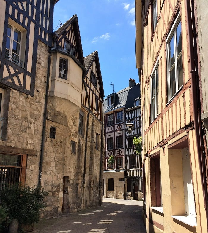 Half-timberd houses in Rouen