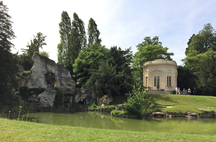 Belvedere and grotto in Petit Trianon gardens