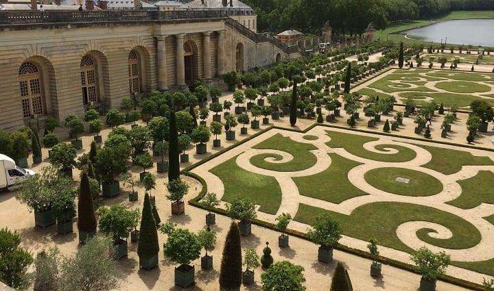 orangery parterre in Versailles