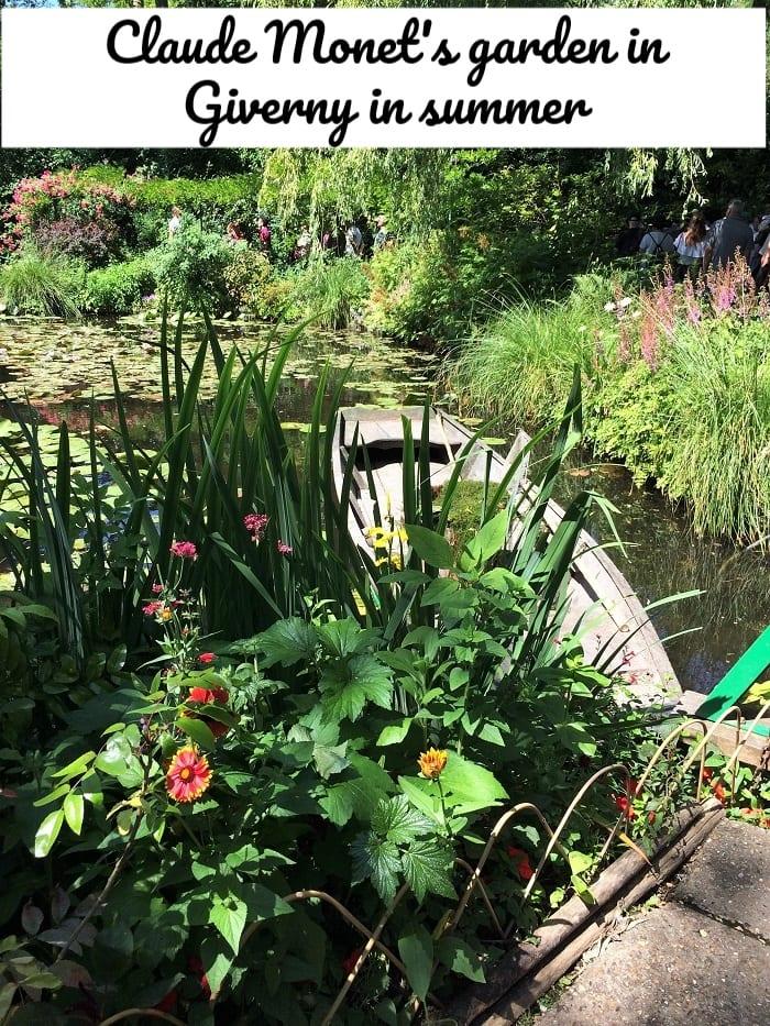 Claude Monet's garden in GIverny in summer
