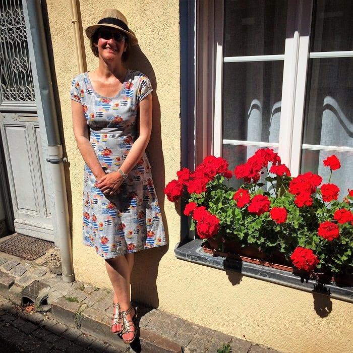 Flower boxes in Honfleur