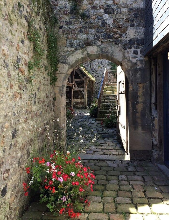 Cobbled streets of Honfleur