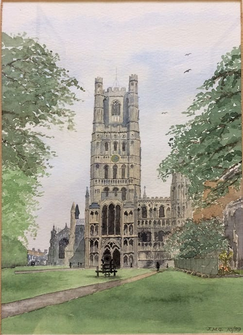 original painting of Ely Cathedral