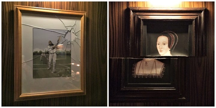 Paintings in The Den, St Martin's Lane hotel