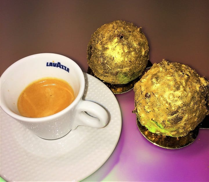 St Martins Lane coffee and The Rocher