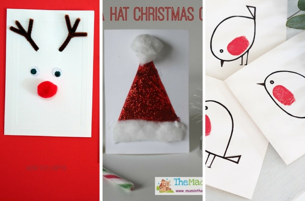 DIY Christmas card ideas for kids to make