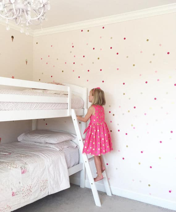 Ombre Polka Dot Wall Decals