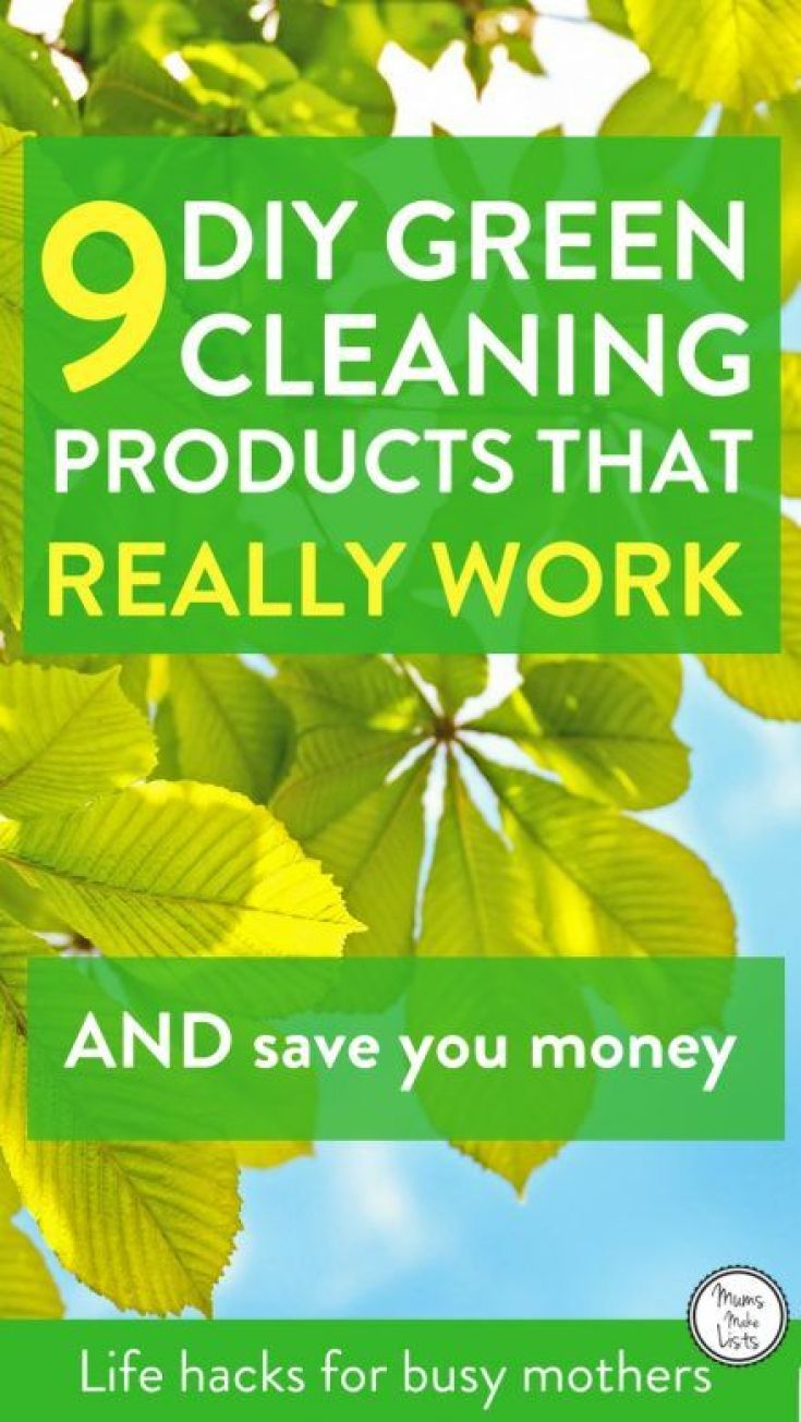 A list of 9 DIY green cleaning products that really work to get your house clean without the use of toxic chemicals. Quick and easy to use, the list includes natural cleaning products such as lemon, vinegar, citric acid and lavender, plus microfibre cloths and dusters. Green cleaning essentials that you have around your home that will cover all your housework cleaning needs and save you money! #Cleaning #CleaningTips #CleaningHacks #CleaningTricks #GreenCleaning #housework #houseworktips #householdhacks #Greenclean #Greencleaners