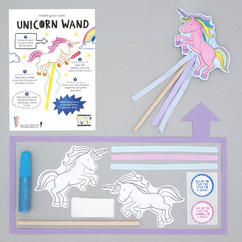 Alternative kids party favour bag idea, Make Your Own Unicorn Wand Kit