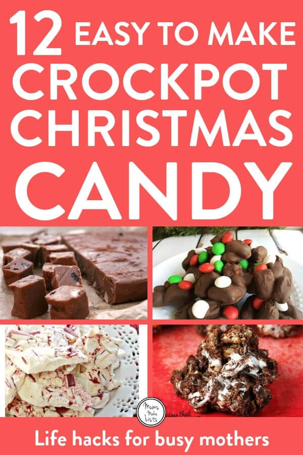12 delicious and easy to make Crock-Pot slow cooker Christmas candy recipes that you will love! All are simple to make, there's chocolate, fudge, Christmas crack, peppermint clusters and more. #CrockPot #CrockPotRecipes #CrockPotCandy #SlowCookerCandy #SlowCooker #SlowCookerRecipes #Christmas #ChristmasCandy #Christmas2018 #ChristmasChocolate