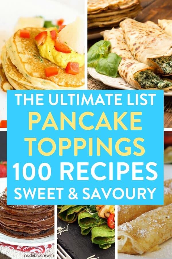 pancake toppings ideas, pancake toppings, savoury pancakes, sweet pancakes, pancake fillings, recipes for pancake fillings