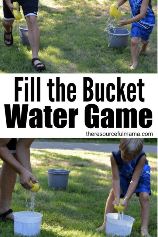 Fill the bucket water game, water activities for kids