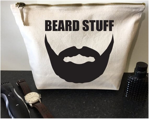 Etsy gifts for him beard grooming bag #Etsy #EtsyFinds #Christmas #ChristmasGift #GiftsForHim