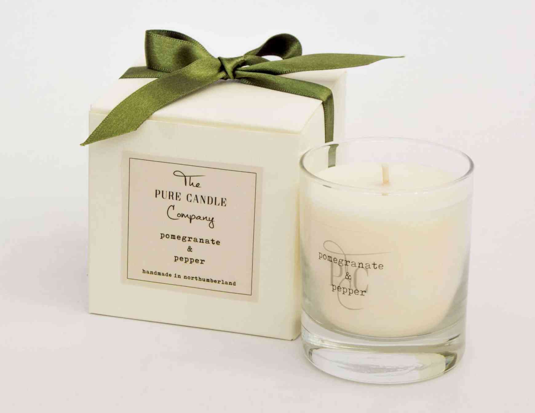 Christmas stocking stuffer ideas, Pomegranate+&+Pepper+30+Hours The Pure Candle Company
