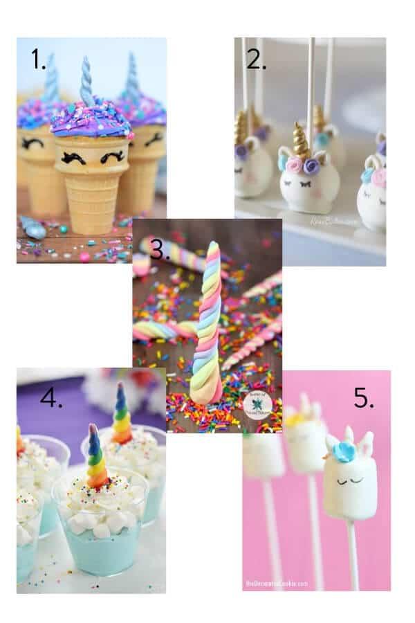 Unicorn party food, unicorn party theme, kids party