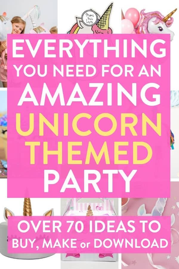 Unicorn party theme ideas, unicorn party ideas, unicorn party, kids party