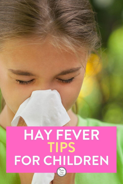 hay fever hacks, hay fever children, hay fever symptoms, tips for hay fever, hay fever in children, hay fever in kids