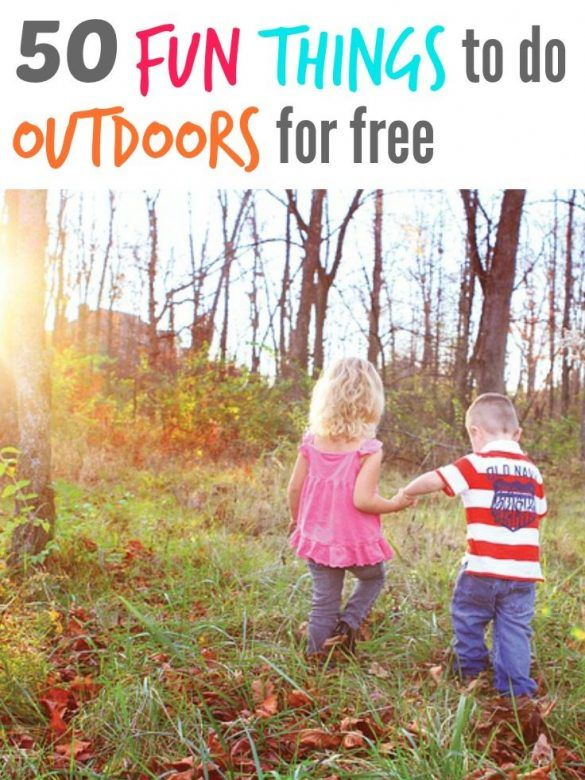 A great list of 50 FREE outdoor activities for freerange kids to have fun in the great wide world during spring, summer, autumn and winter. #OutdoorKids #freerangekids #kidsactivities #kidsactivity