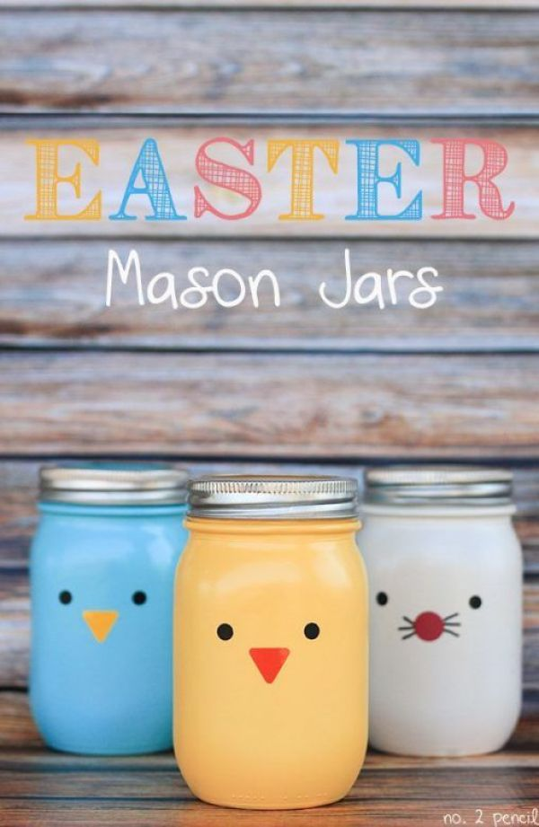 Easter Mason Jar Craft For Kids