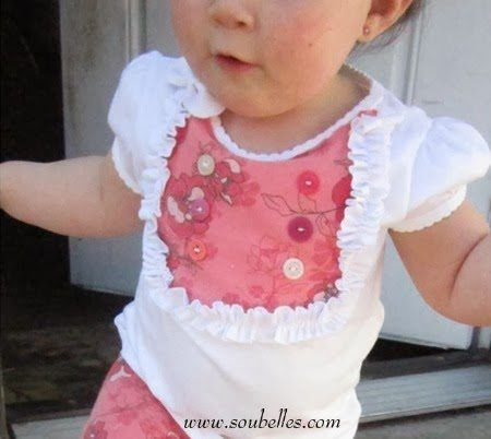 Easy Button Top Pattern, Free baby clothes pattern, easy baby clothes pattern, simple baby button top pattern