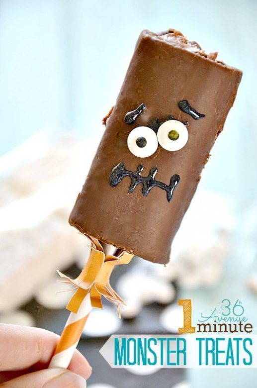 Halloween party food - 1 minute monster treats from 36th Avenue, super fast and easy Halloween treat