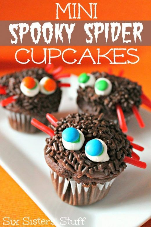 Halloween party food - spider cupcakes, easy to make Halloween cake recipe, Halloween recipe kids can make
