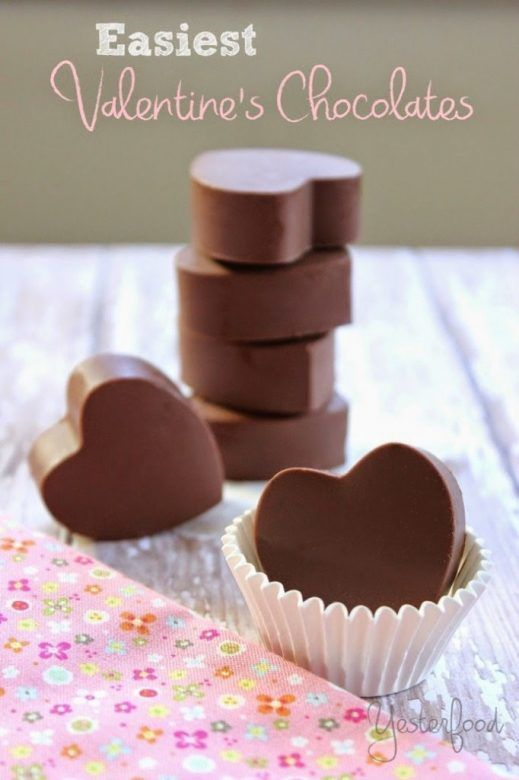 Valentines day chocolates ... the simplest ever Valentines Day chocolates
